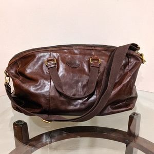 Fossil Leather Duffle Bag